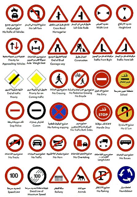كيف اجتاز اختبار اشارات المرور كمبيوتر السعودية